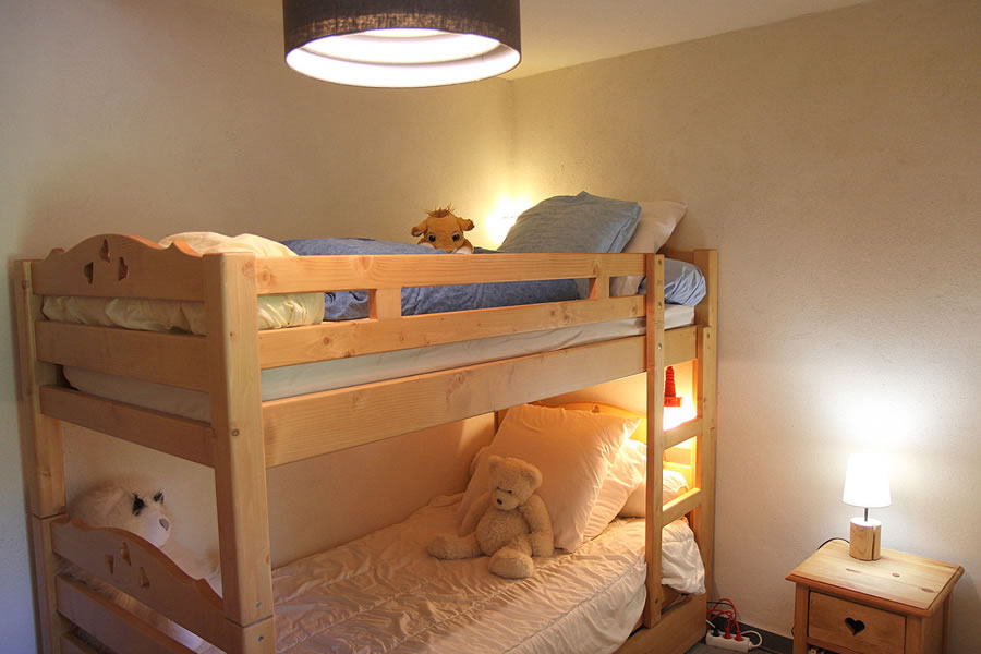 The second bedroom has bunk beds