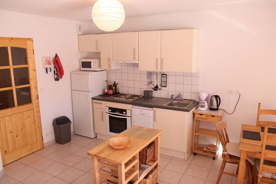 The kitchen is well equipped with oven, fridge freezer, dishwasher & microwave