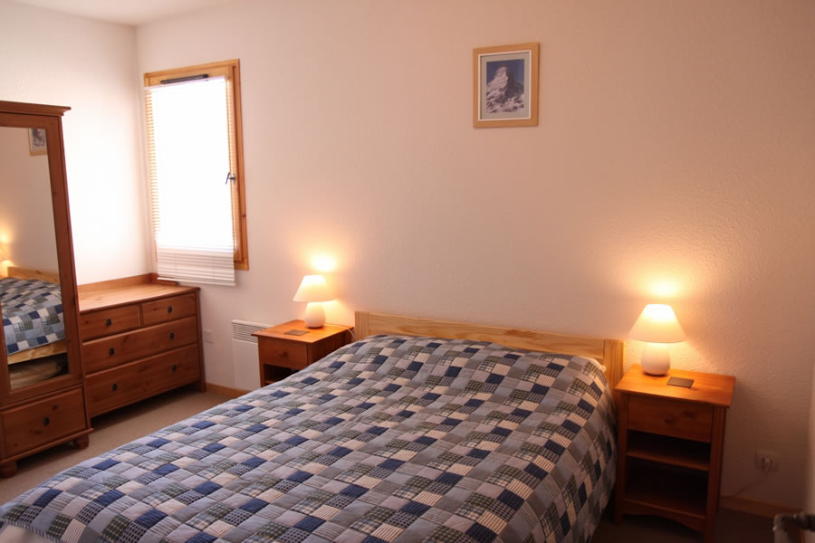 Bedroom 1 has a comfortable double bed
