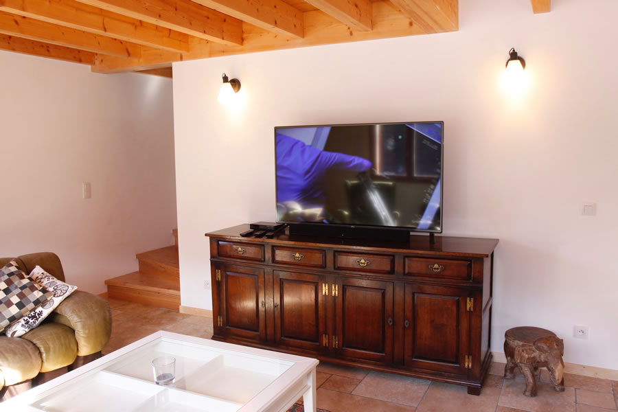 Large flat screen television in the lounge