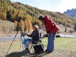 art paining courses french alps