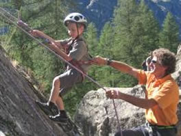 climbing for kids french alps