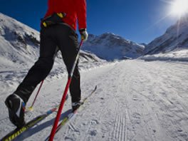 cross country skiing french alps