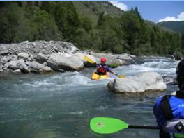 kayak and rafting in french alps
