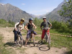 mountain biking french alps