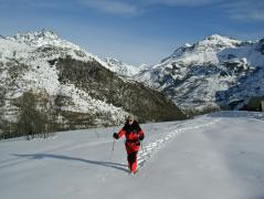 snowshoeing french alps